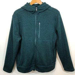 Merona Hoodie Jacket Full Zip Up Hunter Green L